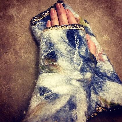 #290 Felted Fingerless Gloves