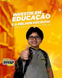 Investir em educação é a melhor escolha!