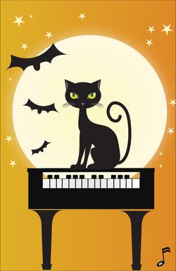 Halloween Piano Cat