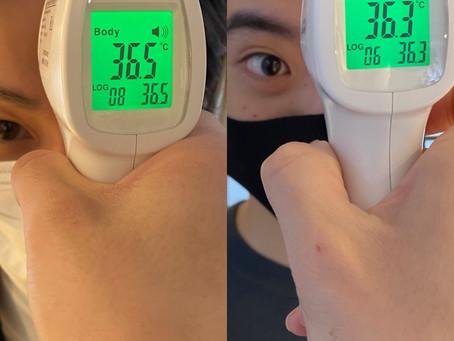 1月20日 スタッフ検温!