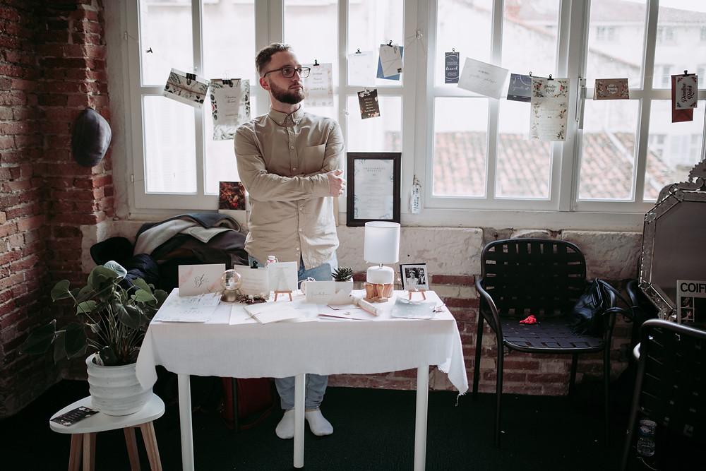 Rémi Pagnol graphiste et créateur de papeterie de mariage