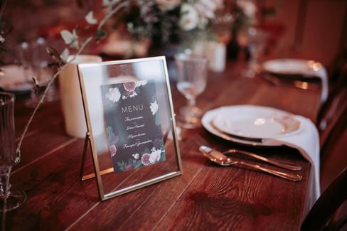 just love festival menu mariage burgundy
