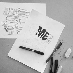 sketch typographie dessin lettre