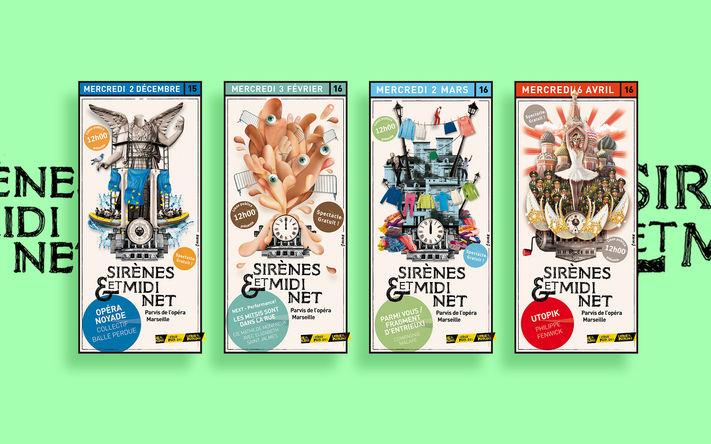 Sirènes & Midi Net / Déclinaison d'identité