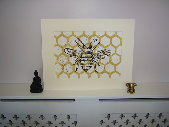 Limited Edition Gold Bee Print