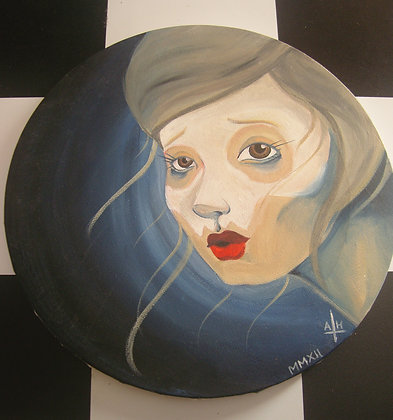 Round Canvas Dark by Aimee Hinds