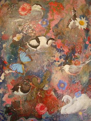 Bird Painting by Belinda Maria Longsden