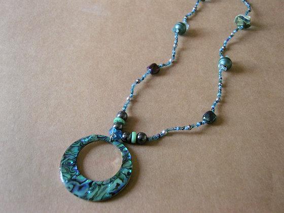 Blue Pendant Necklace by Julie Tomkins