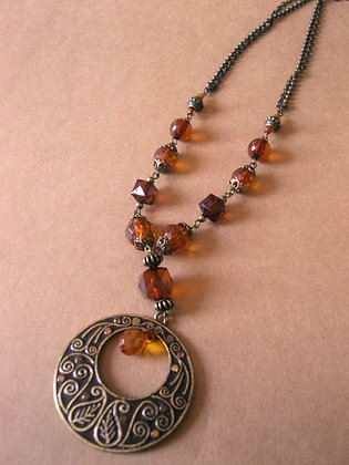 Brown Pendant Necklace by Julie Tomkins