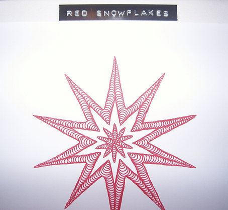 LSG Designs Snowflake Red Christmas Card