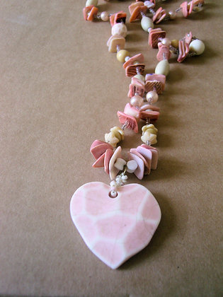 Pink Shell Necklace by Julie Tomkins