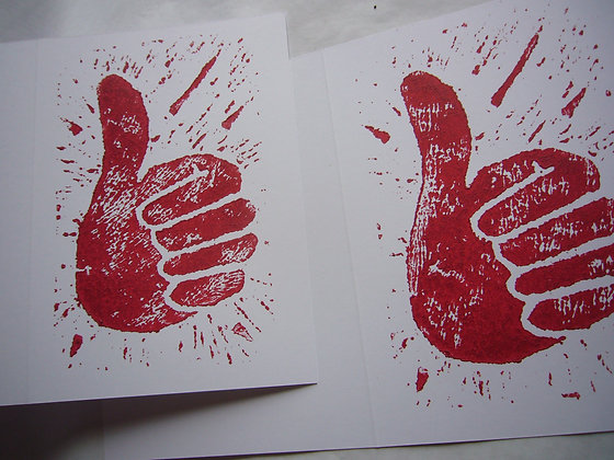 Thumbs Up Celebration Card