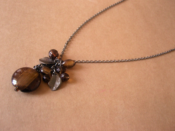 Long Necklace With Brown Beads by Julie Tomkins