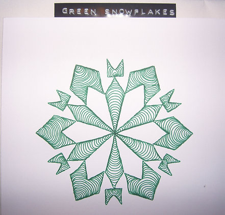 LSG Designs Snowflake Green Christmas Card