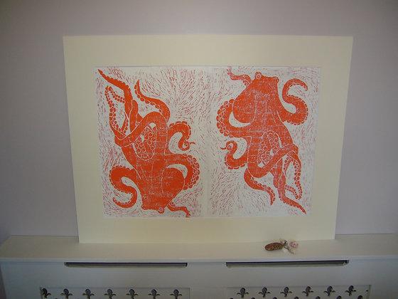 Double Octopus Print