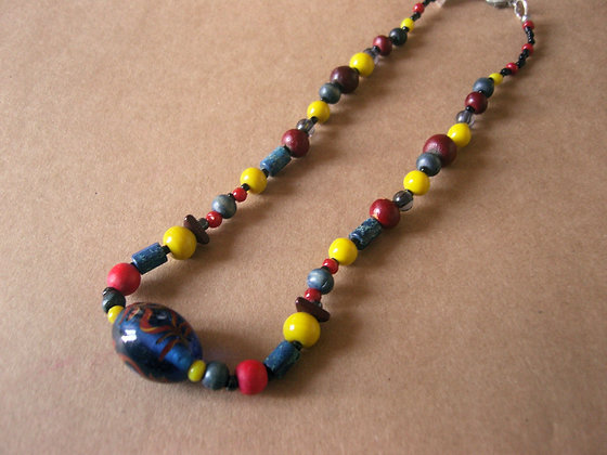 Colourful Beaded Necklace by Julie Tomkins