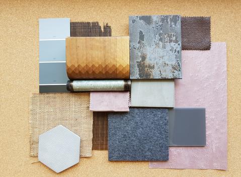 לוחות השראה - חומרים