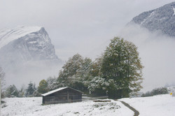 snow in Schoppernau