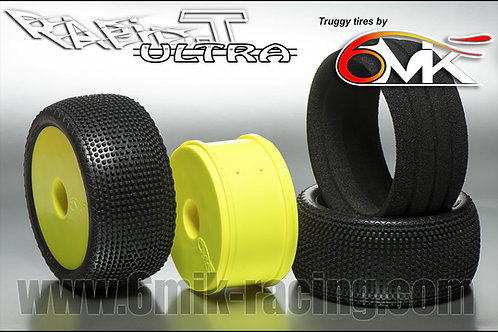 6MIK Rapid-T Pre-Glued Truggy Tyre - 0/18 DIRT (PAIR)