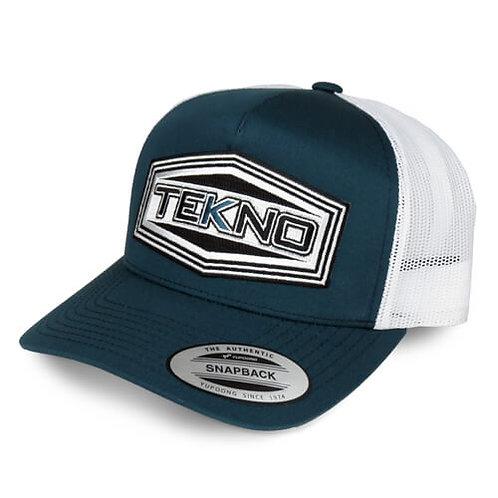 TKRHAT11R – Tekno RC Patch Trucker Hat (round bill, mesh back, adjustable strap)
