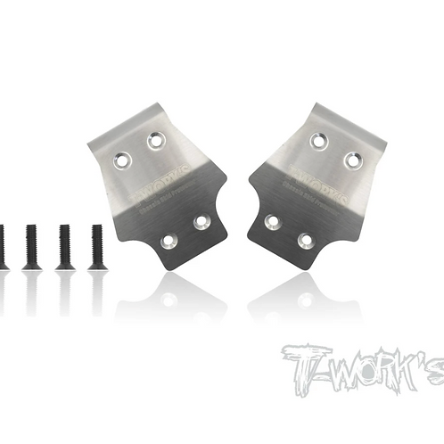 T-Works TO-235-A319 Stainless Steel Front Chassis Skid Protector AGAMA A319 2pcs