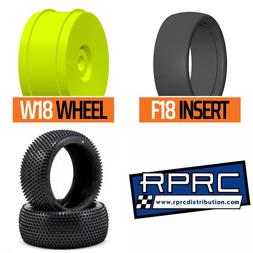 Mini Pins Yellow / GRP Wheels / GRP Moulded insert