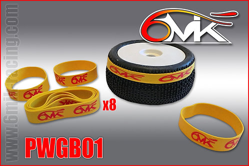 Tyre Gluing Bands x 8 - 6Mik PWGB01 1:10 and 1:8th