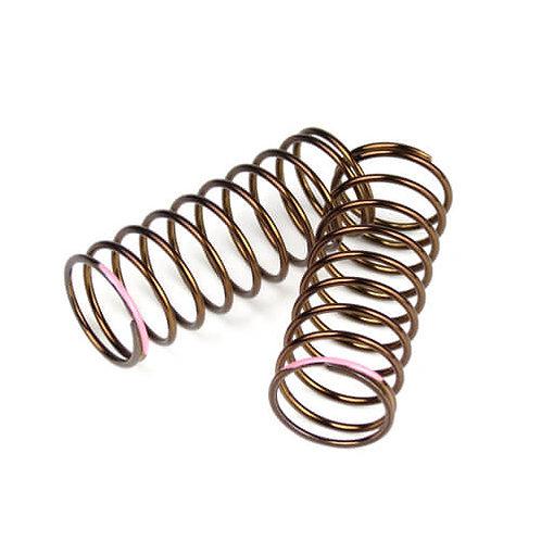 TKR7233 – Shock Spring Set (front, 1.4×10.125, 3.61lb/in, 50mm, pink)