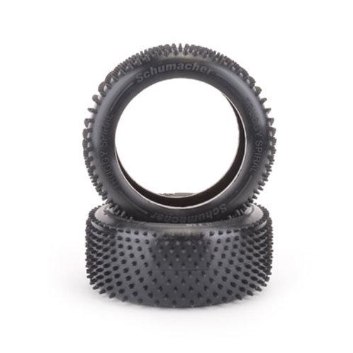 Schumacher Truggy Spiral Tyre - Yellow - pr - G404