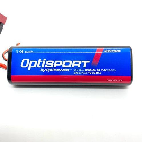 Optipower 2S 4000MAH RTR ROUND LIPO