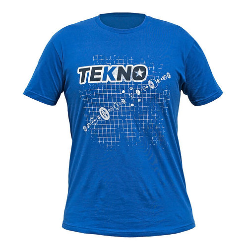 Tekno RC T-Shirt- Small (diff blueprint, Next Level, dark blue)