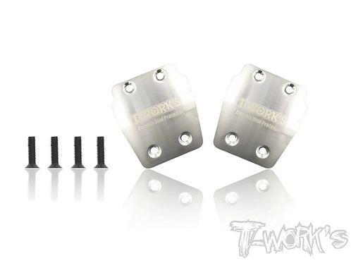 T-Works TO-220-A319 Stainless Steel Rear Chassis Skid Protector AGAMA A319 2pcs
