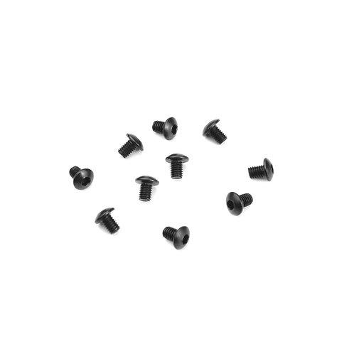 TKR1400 - M3x4mm Button Head Screws (black, 10pcs)