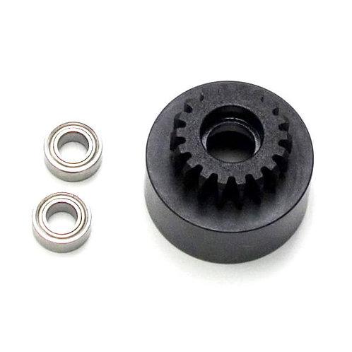 TKR4128 – 1/8th Clutch Bell (hardened steel, Mod 1, 18t, w/bearings)