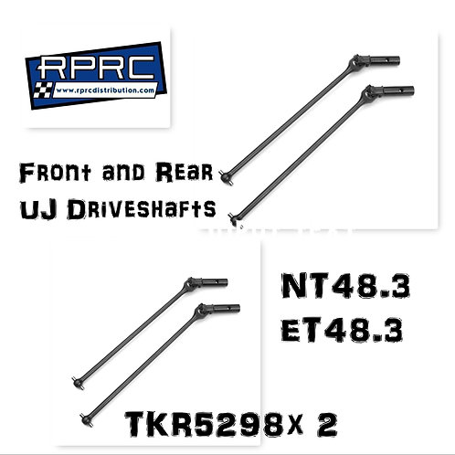 NT/ET48.3 Front and Rear Universal Driveshafts