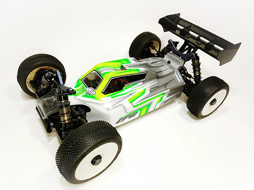 A2.1 TACTIC BODY (CLEAR) W/FRONT WING FOR TEKNO EB48 2.0