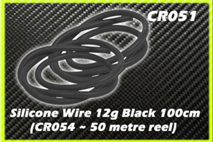 CR051- CORE RC Silicone Wire 12AWG - Black 1 Metre