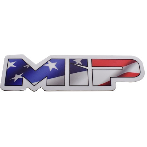"5106 - MIP American Flag, Die Cut Vinyl Sticker, 3.73"" x 1"""
