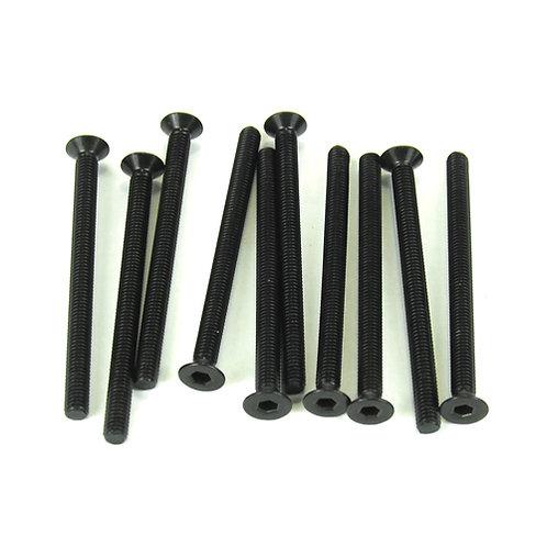 TKR1333 – M3x40mm Flat Head Screws (black, 10pcs)
