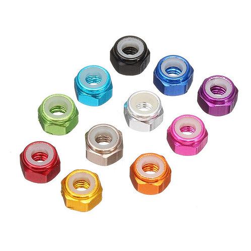 M3 nyloc nut (10pcs) various colours
