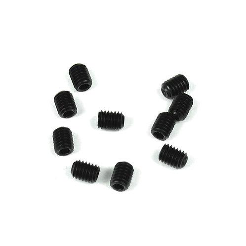 TKR1601 – M3x4mm Set Screws (black, 10pcs)