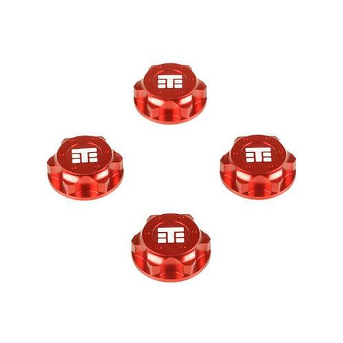 TKR5116BR – Wheel Nuts (T Logo, 17mm, serrated, red ano, M12x1.0, 4pcs)