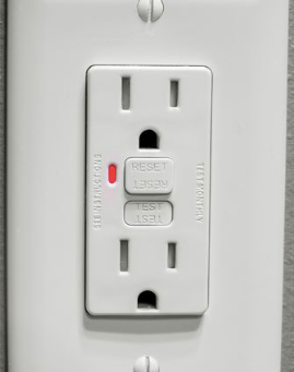 Home Inspection Report: kitchen needs GFCI outlet