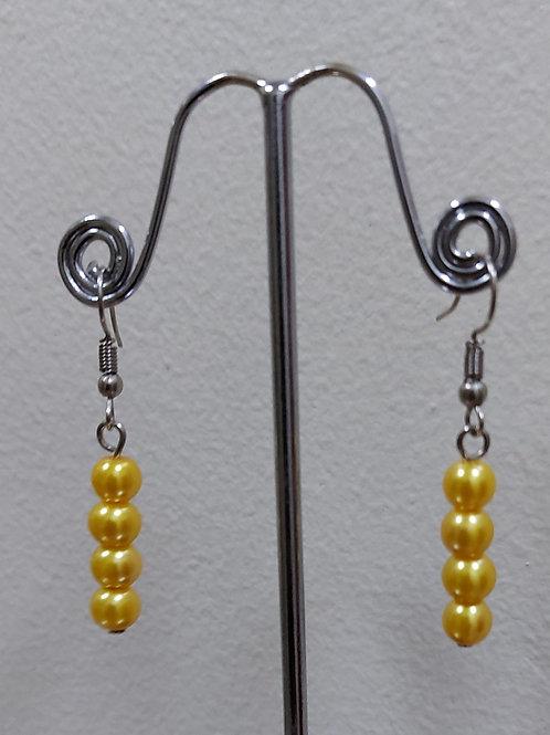 Pearl Earrings - Yellow