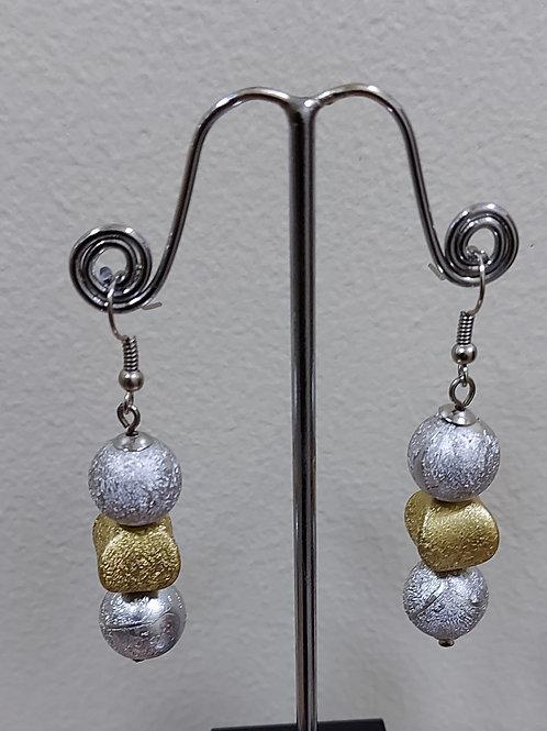 Silver & Gold Frosty Earrings