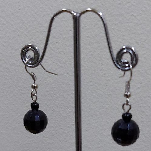 Black - single Drop Earrings