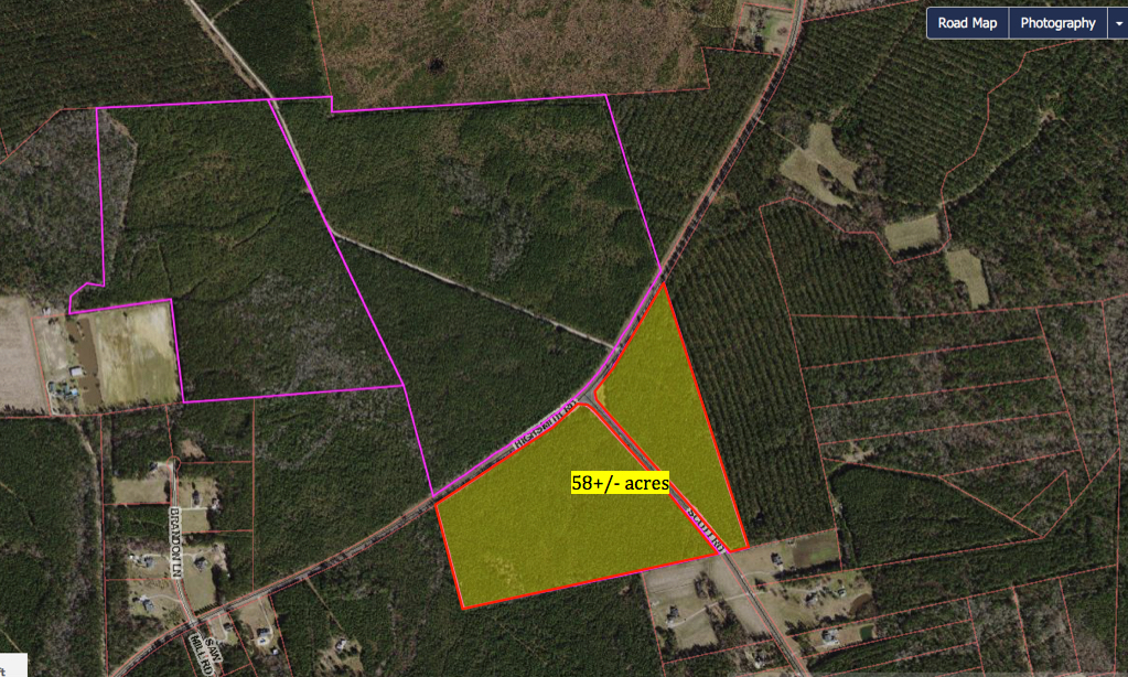 58 acres highlighted