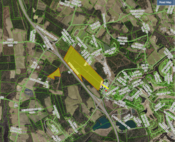 Wells Harrell & South Park highlighted aerial