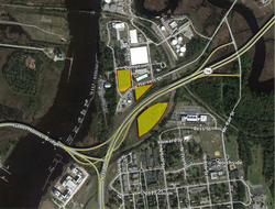 Highlighted Aerial - Hilton Tracts