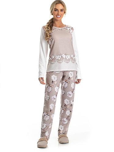 Pijama Moletinho Barrado - 0801083